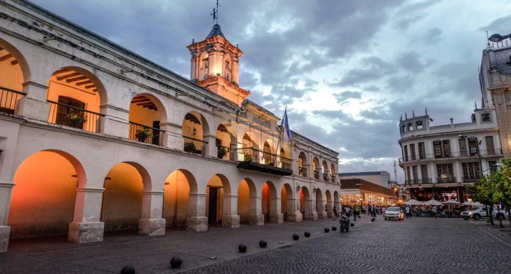 Salta, Argentina - Apr 25, 2018: Salta Cabildo - Salta, Argentina