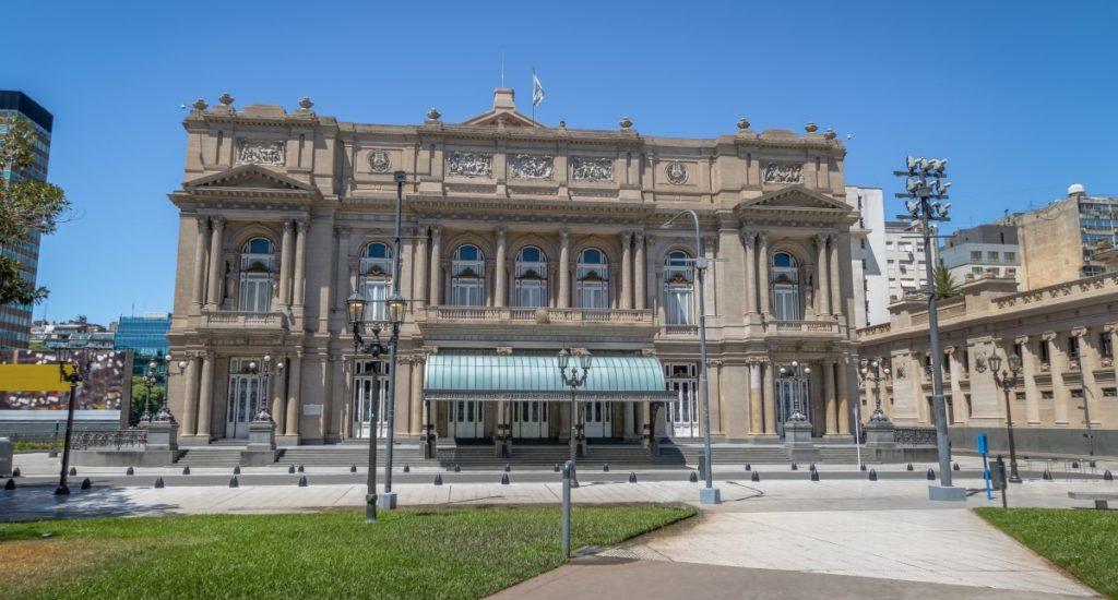 Buenos Aires, Argentina - Feb 2, 2018: Teatro Colon (Columbus Theatre) - Buenos Aires, Argentina